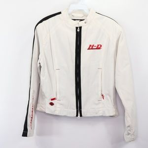 Harley Davidson Womens Small Riding Jacket White